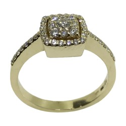 Gold Diamond Ring 0.45 CT. T.W. Model Number : 1726