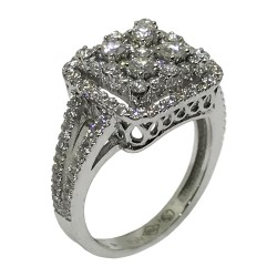 טבעת זהב משובצת 101 יהלומים במשקל 1.3 קרט דגם : 1730