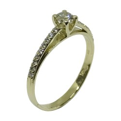 Gold Diamond Ring 0.34 CT. T.W. Model Number : 1675