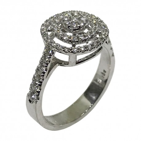 Gold Diamond Ring 0.69 CT. T.W. Model Number : 1645