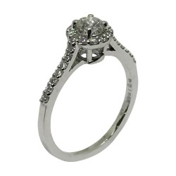 Gold Diamond Ring 0.58 CT. T.W. Model Number : 1572