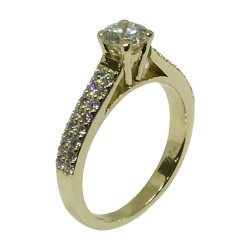 Gold Diamond Ring 0.89 CT. T.W. Model Number : 1558