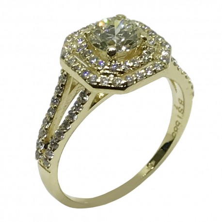 Universe Jewelry - Gold Diamond Ring 1 16 CT  T W  Model Number : 1557