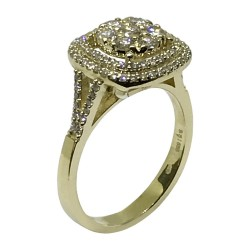 Gold Diamond Ring 0.89 CT. T.W. Model Number : 1605
