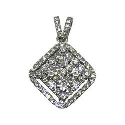 Gold Diamond Pendant 1.26 CT. T.W. Model Number : 1455