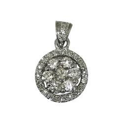 Gold Diamond Pendant 0.75 CT. T.W. Model Number : 1767