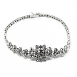 Gold Diamond Bracelet 0.58 CT. T.W. Model Number : 1772