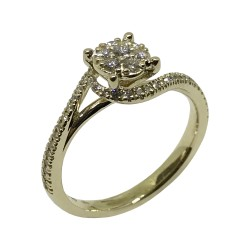 Gold Diamond Ring 0.36 CT. T.W. Model Number : 1776