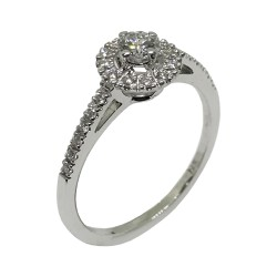 Gold Diamond Ring 0.33 CT. T.W. Model Number : 1802