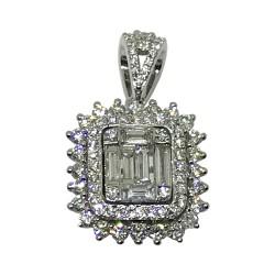 Gold Diamond Pendant 0.95 CT. T.W. Model Number : 1818