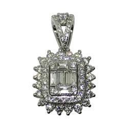 Gold Diamond Pendant 0.62 CT. T.W. Model Number : 1823