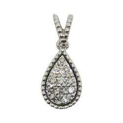 Gold Diamond Pendant 0.11 CT. T.W. Model Number : 1827