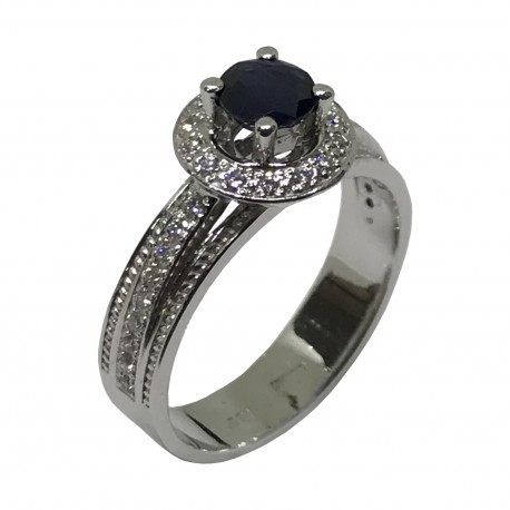 Gold Diamond Ring 0.92 CT. T.W. Model Number : 1842