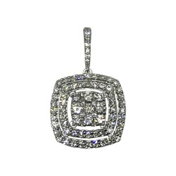 Gold Diamond Pendant 0.8 CT. T.W. Model Number : 1851