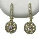 Gold Diamond EarRings 0.86 CT. T.W. Model Number : 1866