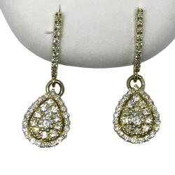 Gold Diamond EarRings 1.37 CT. T.W. Model Number : 1867