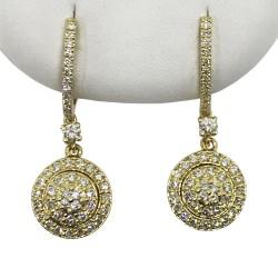 Gold Diamond EarRings 0.83 CT. T.W. Model Number : 1870