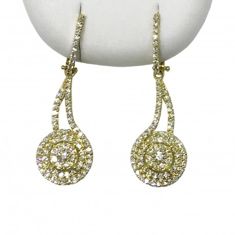 Gold Diamond EarRings 1.01 CT. T.W. Model Number : 1874
