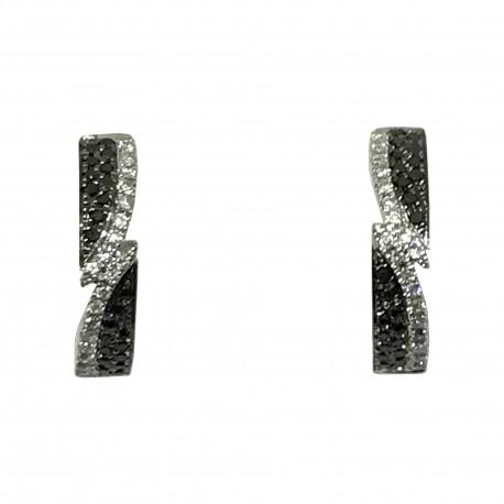 Gold Diamond EarRings 0.26 CT. T.W. Model Number : 1891