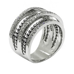 טבעת זהב משובצת 133 יהלומים במשקל 0.77 קרט דגם : 1909