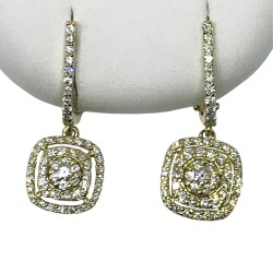 Gold Diamond EarRings 0.75 CT. T.W. Model Number : 1941