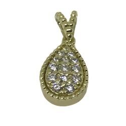 Gold Diamond Pendant 0.14 CT. T.W. Model Number : 1942