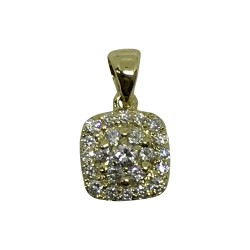 Gold Diamond Pendant 0.3 CT. T.W. Model Number : 1945