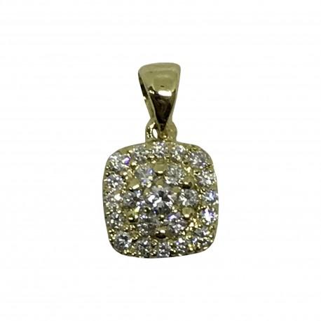 Gold Diamond Pendant 0.3 CT. T.W. Model Number : 1945