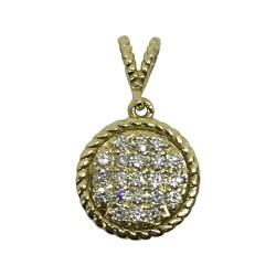 Gold Diamond Pendant 0.27 CT. T.W. Model Number : 1950