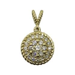 Gold Diamond Pendant 0.3 CT. T.W. Model Number : 1951