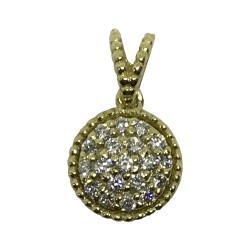 Gold Diamond Pendant 0.16 CT. T.W. Model Number : 1953