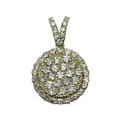 Gold Diamond Pendant 0.94 CT. T.W. Model Number : 1966