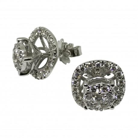 Gold Diamond EarRings 0.98 CT. T.W. Model Number : 1968