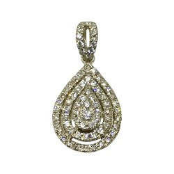 Gold Diamond Pendant 0.36 CT. T.W. Model Number : 2021