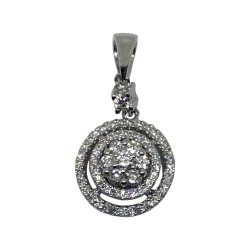 Gold Diamond Pendant 0.44 CT. T.W. Model Number : 2083