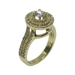 Gold Diamond Ring 1.17 CT. T.W. Model Number : 2090