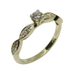 Gold Diamond Ring 0.32 CT. T.W. Model Number : 2102