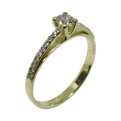 טבעת זהב משובצת 19 יהלומים במשקל 0.34 קרט דגם : 2115