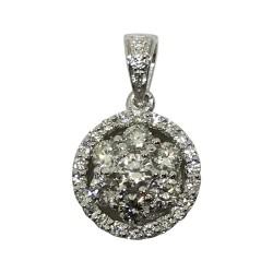 Gold Diamond Pendant 0.58 CT. T.W. Model Number : 2156