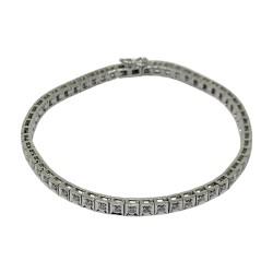 Gold Diamond Bracelet 0.72 CT. T.W. Model Number : 2162