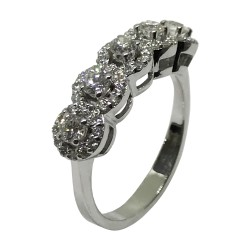 Gold Diamond Ring 0.77 CT. T.W. Model Number : 2222