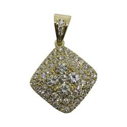 Gold Diamond Pendant 0.95 CT. T.W. Model Number : 2268