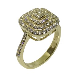 Gold Diamond Ring 0.72 CT. T.W. Model Number : 2309