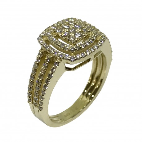Gold Diamond Ring 0.81 CT. T.W. Model Number : 2311