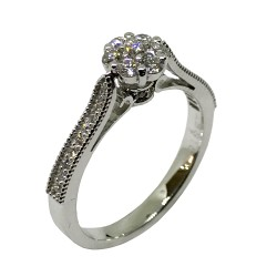 Gold Diamond Ring 0.42 CT. T.W. Model Number : 2340