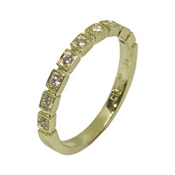 Gold Diamond Ring 0.14 CT. T.W. Model Number : 995