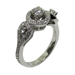 Gold Diamond Ring 1.01 CT. T.W. Model Number : 2363