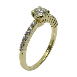 Gold Diamond Ring 0.74 CT. T.W. Model Number : 2381