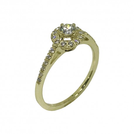 Gold Diamond Ring 0.33 CT. T.W. Model Number : 1105