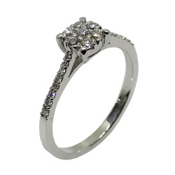 Gold Diamond Ring 0.29 CT. T.W. Model Number : 2427